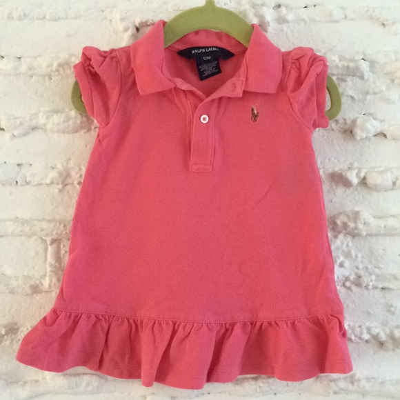 cdbf67d092 {ralph lauren} 👶Ruffle Pique Polo Dress